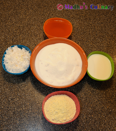 Making of 7 Cup Cake