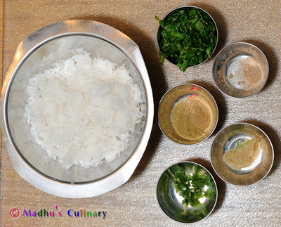 Raddish Paratha Ingredients