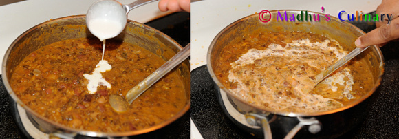 Making of Dal Makhani