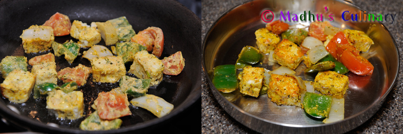 Making of Paneer Tikka Masala