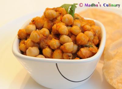 Channa Masala (Chick Peas)