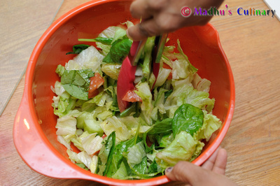 Making of Icegerg Salad