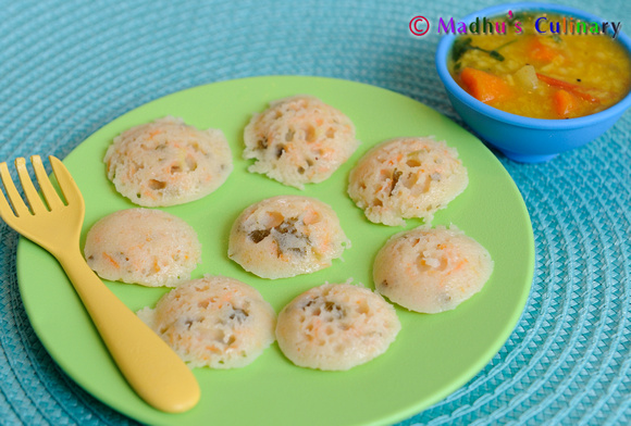 Mini Veggie Idli