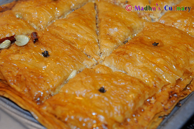 Preparing Baklava