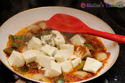 Making of Kadai Paneer