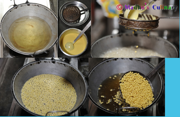 Making of the Boondi for Laddu