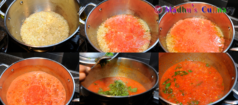 Making of Marinara Sauce