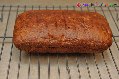 Making of Eggless Banana Nut Loaf