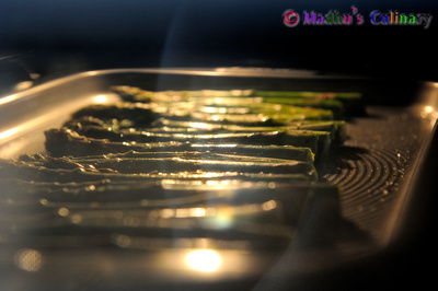 Oven roasting Asparagus