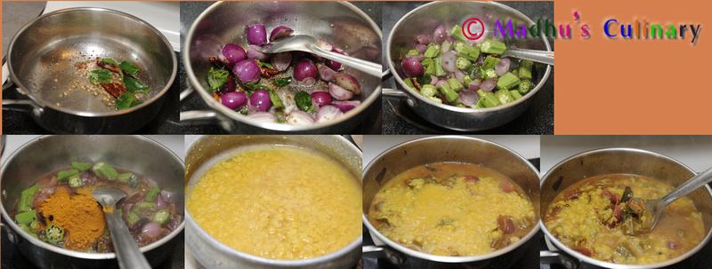 Okra Sambar / வெண்டைக்காய் சாம்பார் Preparation