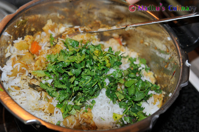 Making of Vegetable Biryani