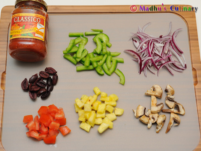 Vegetable Pizza Ingredients