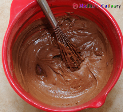 Making of Chocolate Cupcake Batter
