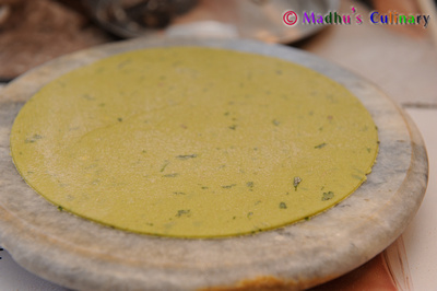Making of Avocado Paratha