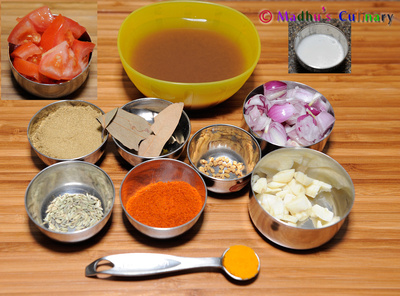 Dosai Kuzhambu Ingredients