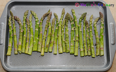 Raw Asparagus Olive Oil coated
