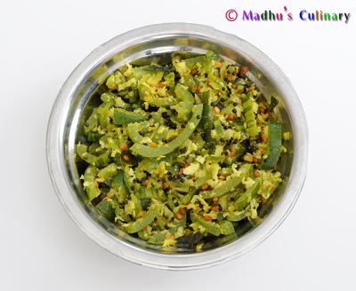 Pudalangai Poriyal (Snake Gourd Curry)