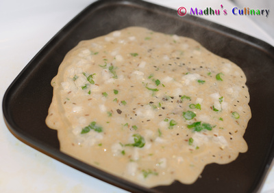 Gothumai Dosai/ Wheat Dosa Baking