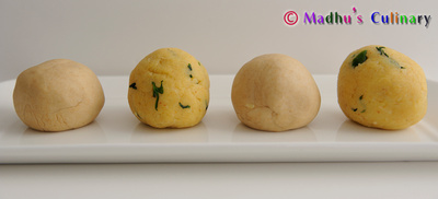 Aloo Paratha Dough and Potato Balls