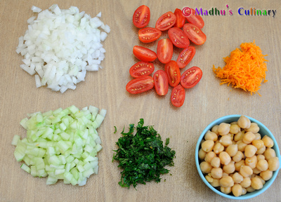 Chick Peas Salad Ingredients
