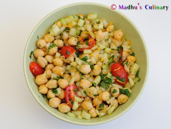 Chick Peas Salad (Garbanzo / Bengal Gram)