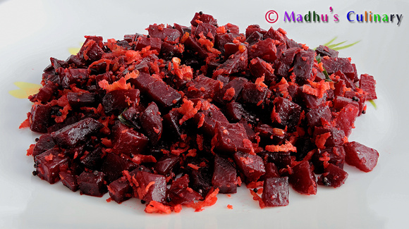 Beetroot Poriyal/Curry