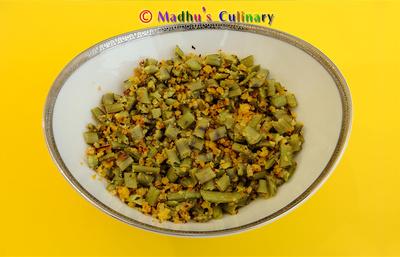 Cluster Beans Paruppu Usili / Kothavaranga Paruppu Usili