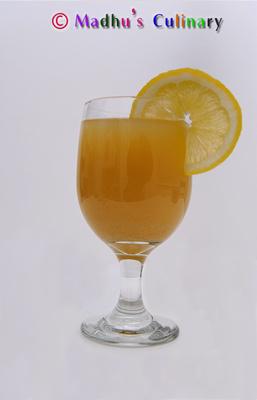 Ginger (Inji) Juice